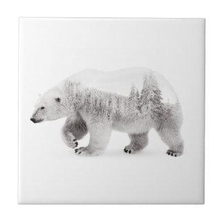 Carreau Ours arctique noir et blanc
