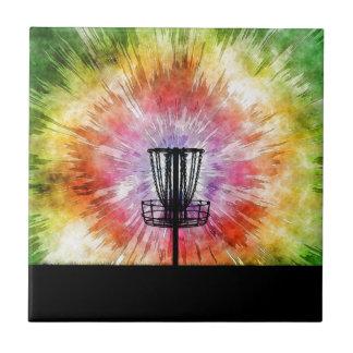 Carreau Panier de golf de disque de colorant de cravate