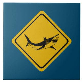 Carreau panneau routier de requin