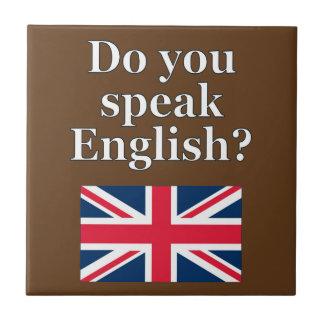 """Carreau """"Parlez-vous anglais ? """"en anglais. Drapeau"""