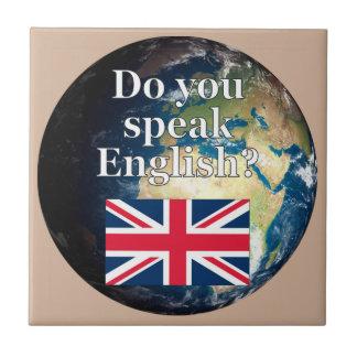 """Carreau """"Parlez-vous anglais ? """"en anglais. Drapeau et"""