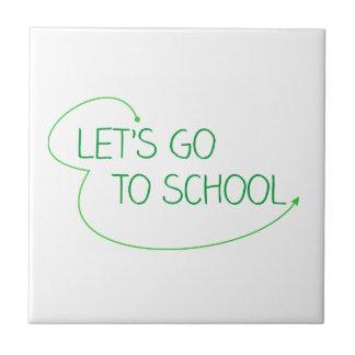 Carreau partons à l'école