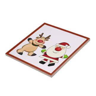 Carreau Père Noël et vacances de Noël de renne