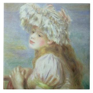 Carreau Pierre une jeune femme de Renoir | dans un