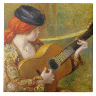 Carreau Pierre une jeune femme espagnole de Renoir | avec