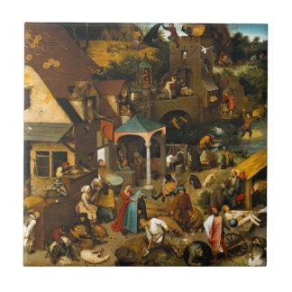 Carreau Pieter Bruegel l'aîné - les proverbes néerlandais