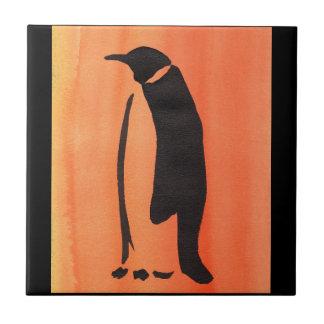Carreau Pingouin sur l'orange