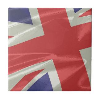 Carreau Plan rapproché en soie de drapeau d'Union Jack