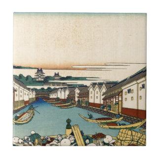 Carreau Pont de Nihonbashi à Edo par Katsushika Hokusai