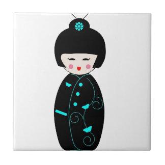 Carreau Poupée de fille de geisha