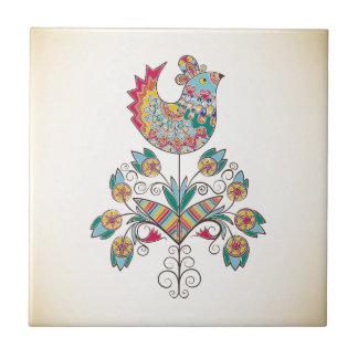 Carreau poussin Boho-chic sur la fleur