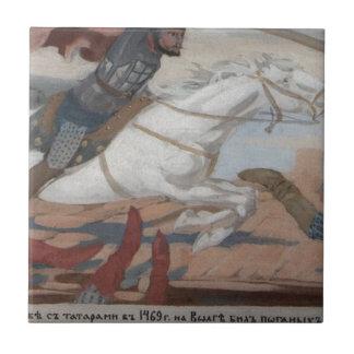 Carreau Prince Ukhtomsky dans la bataille avec des tartres