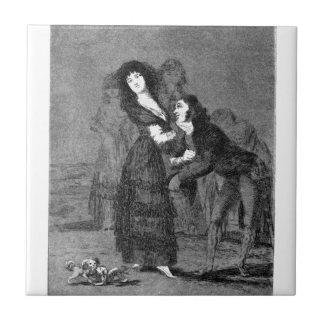 Carreau Qui est plus surmonté ? par Francisco Goya