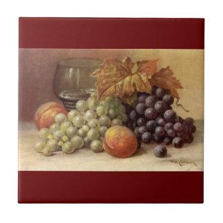 Carreau Raisin ou tuile ou trépied de vin