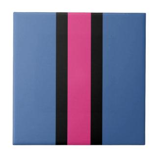 Carreau Rayé bleu, rose, noir