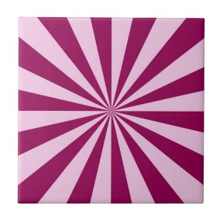 Carreau Rayons de soleil dans la tuile rose et couleur
