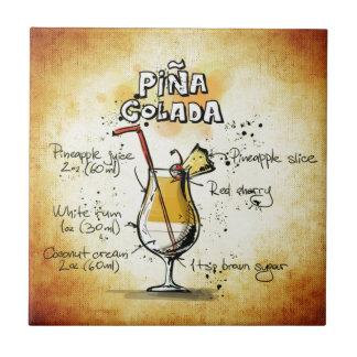 Carreau Recette de cocktail de Pina Colada