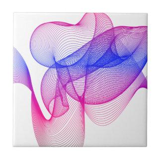 Carreau Remous rose, art numérique