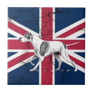Carreau Rétro chien anglais d'indicateur des syndicats de