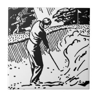 Carreau Rétro dessableur de golfeur
