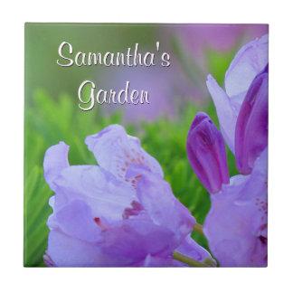 Carreau Rhododendron après le jardin personnalisé par