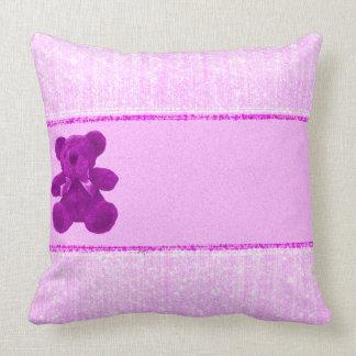 Carreau rose 20x20 de coton de bébé oreillers