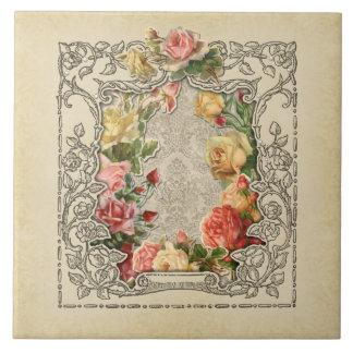 Carreau Roses sculptés par cru romantique