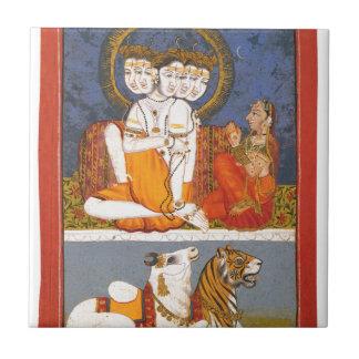 "Carreau Shiva et ""la famille sainte """