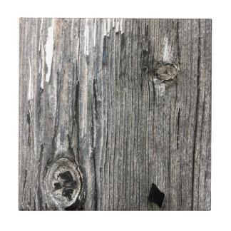 Carreau Signalisation en bois âgée de barrière de
