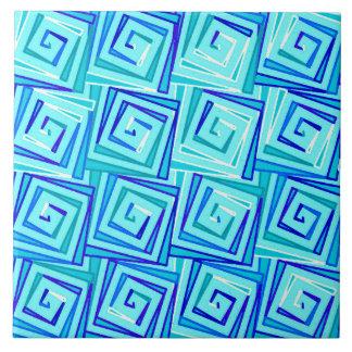 Carreau Spirales carrées modernes de la moitié du siècle -