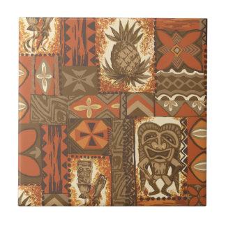 Carreau Tapa vintage hawaïen de Pomaika'i Tiki