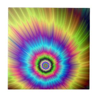 Carreau Teignez en nouant la tuile d'explosion de couleur