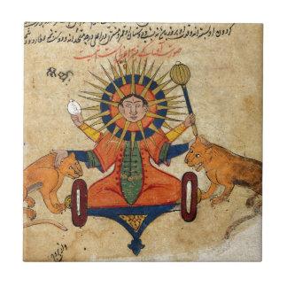 Carreau The Sun du manuscrit persan 373
