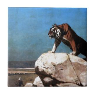 Carreau Tigre sur la montre par Jean-Léon Gerome