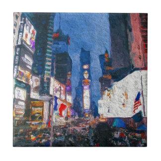Carreau Times Square à la peinture de nuit