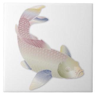 Carreau Trépied doux de poissons de Koi d'arc-en-ciel