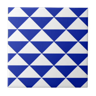 Carreau Triangles de bleu royal et de blanc