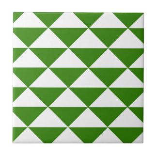 Carreau Triangles de vert et de blanc d'herbe