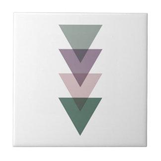 Carreau Triangles géométriques dans vert et le pourpre