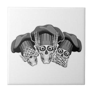 Carreau Trois crânes sages de chef