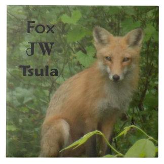 Carreau Tuile carrée en céramique photo cherokee de Fox de