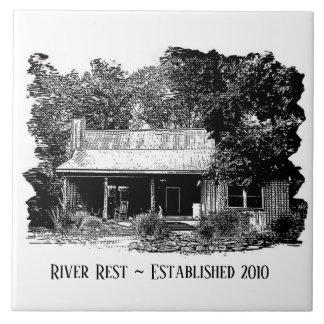Carreau Tuile de cabine de repos de rivière