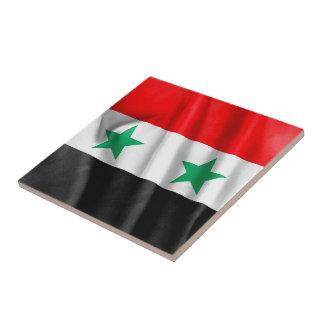 Carreau Tuile de carré de drapeau de la Syrie