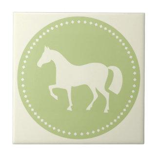 Carreau Tuile de carré de silhouette de cheval/poney