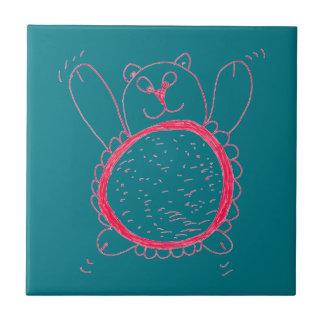 Carreau Tuile de carré d'ours de tournesol