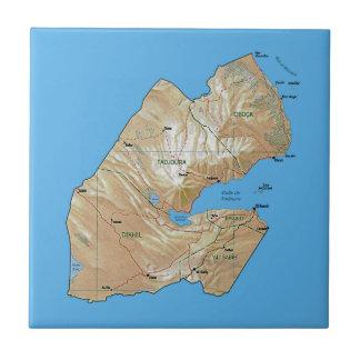 Carreau Tuile de carte de Djibouti