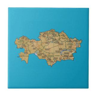 Carreau Tuile de carte de Kazakhstan