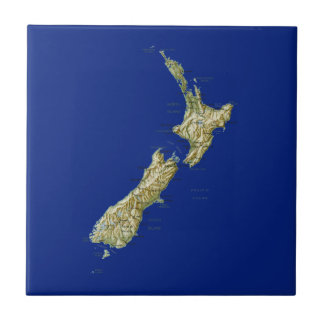 Carreau Tuile de carte de la Nouvelle Zélande