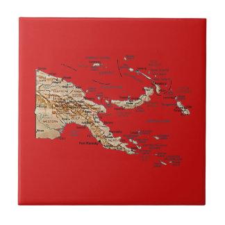 Carreau Tuile de carte de la Papouasie-Nouvelle-Guinée