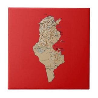 Carreau Tuile de carte de la Tunisie